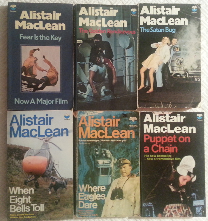 Alistair MacLean book covers, Fontana editions