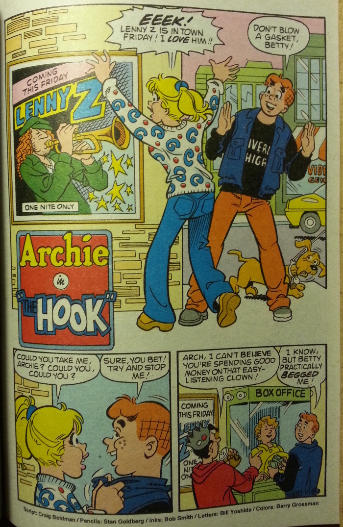 Archie buys tickets to Lenny Z.