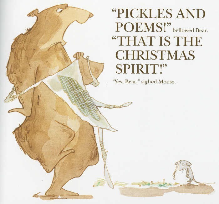 'Pickles and poems!' bellowed Bear.