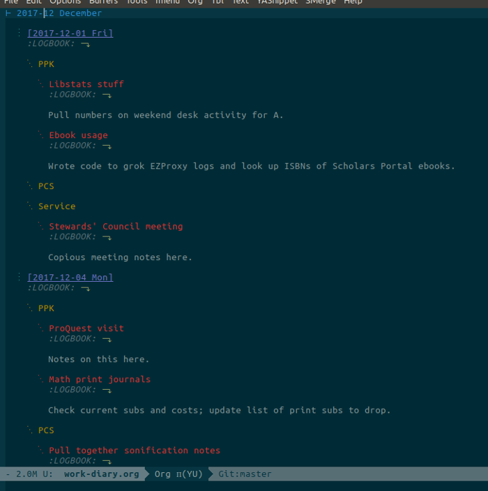 Much nicer in Emacs.