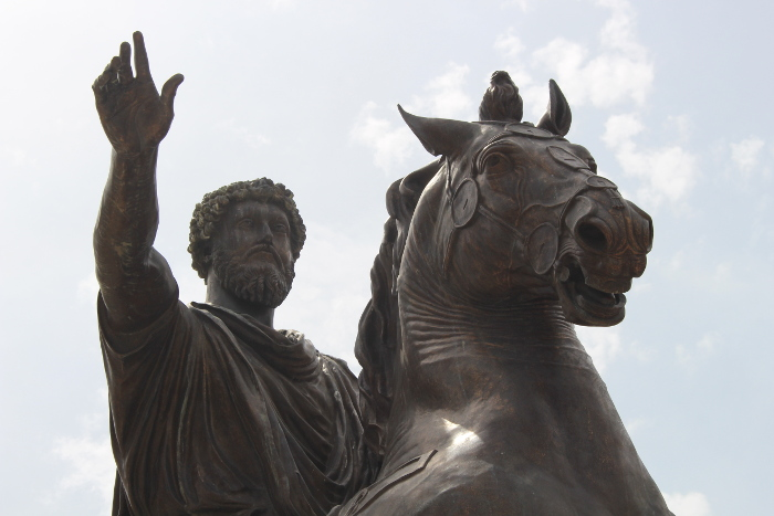 Statue of Marcus Aurelius on the Capitoline Hill.