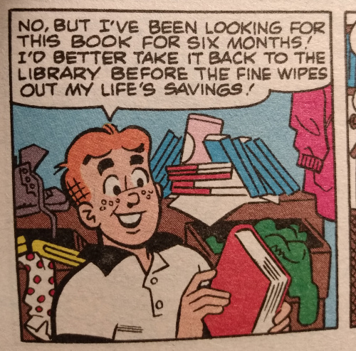 Archie finds a lost library book