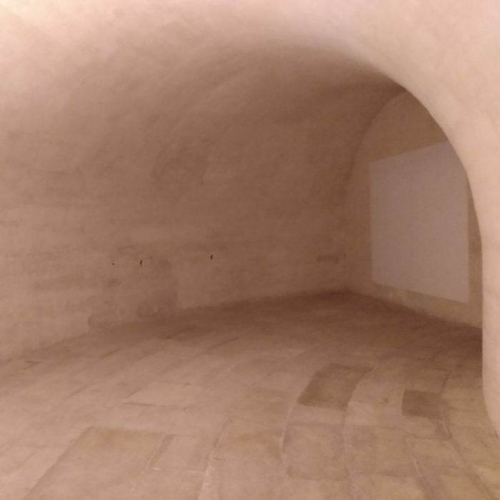 A photograph taken in the crypts under the Pantheon.