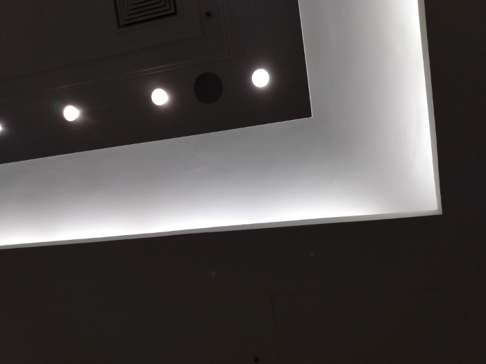 The ceiling of the meeting room