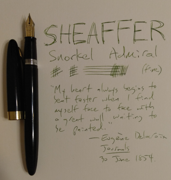 Sheaffer Snorkel Admiral