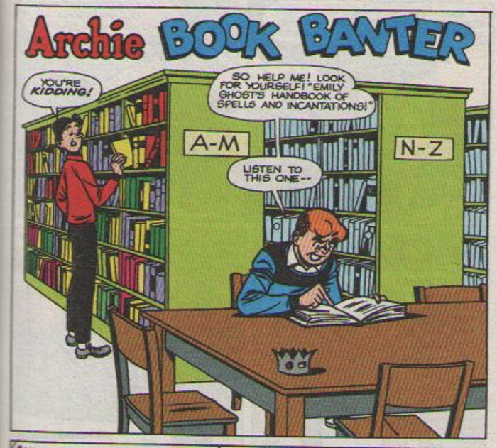 Archie studies an eldritch tome.