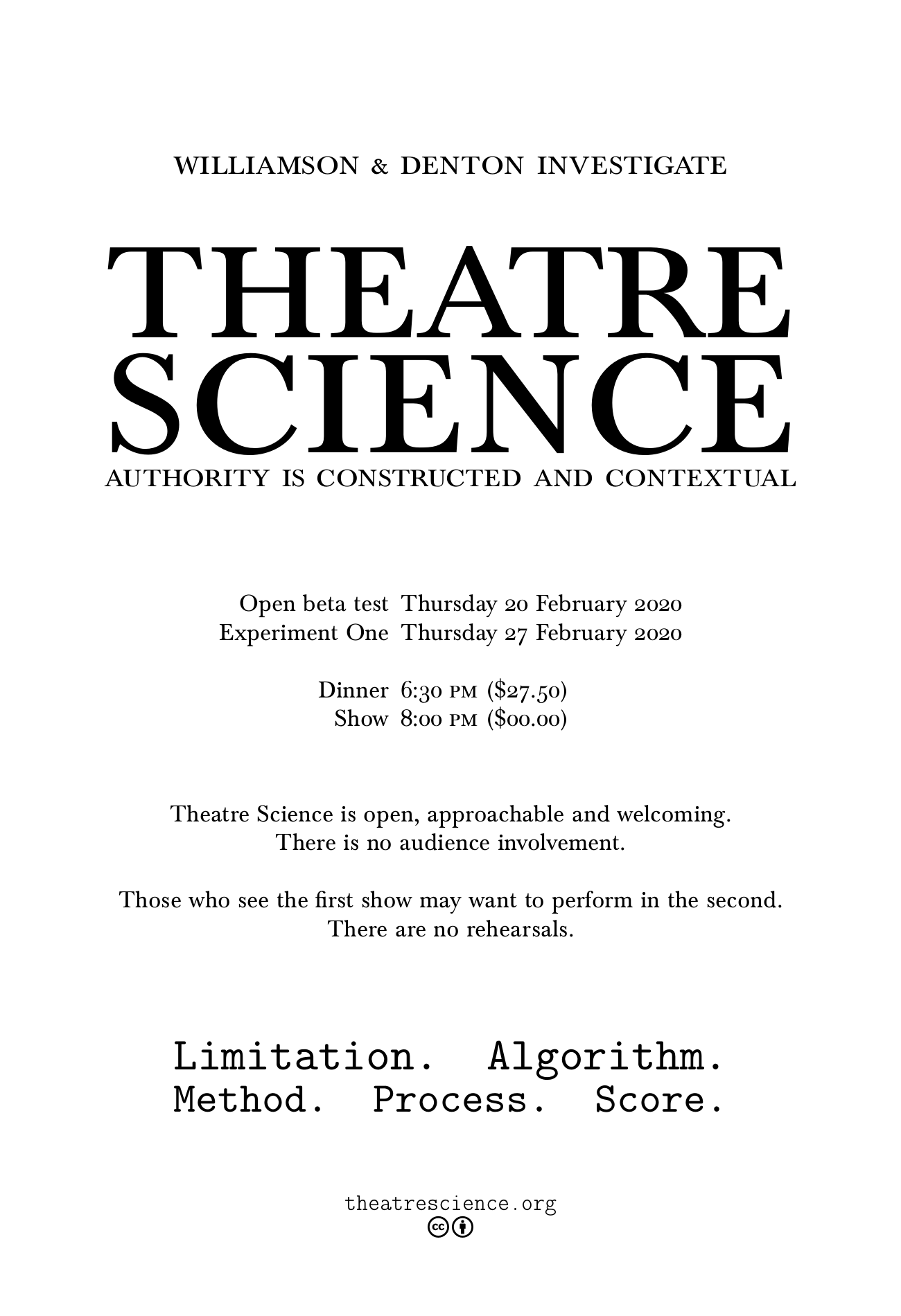 Theatre Science poster