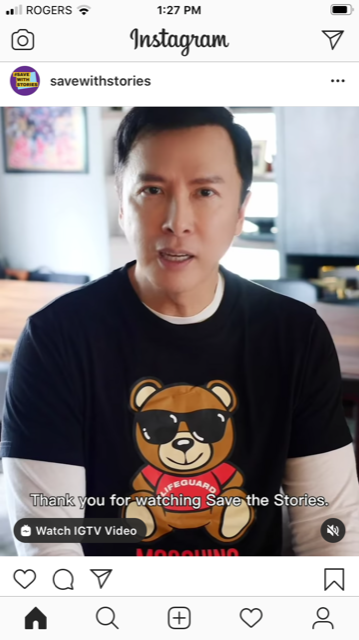 Screenshot from the video, with Donnie Yen
