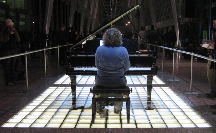 One of many Nuit Blanche pianists