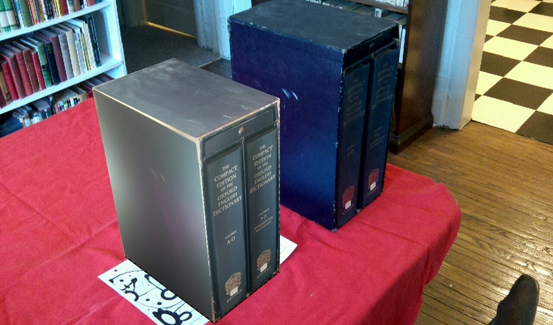 My OED beside the virtual OED, right view